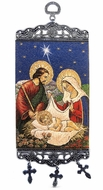 "The Holy Family, Tapestry Icon Banner, `10"" H"