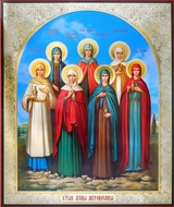 The Holy Myrrh Bearing Women, Orthodox Icon, Extra Large