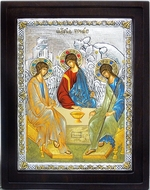 The Holy Trinity (Old Testament Trinity), Orthodox Serigraph Framed Icon