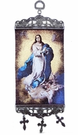 "The Immaculate Conception, Tapestry Icon Banner, ~10"" H"