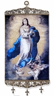 "The Immaculate Conception, Tapestry Icon Banner, 17"" H"