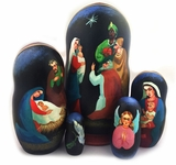 The Nativity of Christ, 4 Nesting Doll, Hand Painted