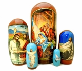 The Nativity of Christ,  5 Nesting Icon Doll, 7""