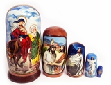 The Nativity of Christ,  5 Nesting Icon Doll, 4""