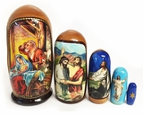 Nativity of Christ,  5 Nesting Icon Doll, 4""
