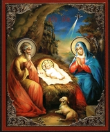 The Nativity of Christ, Orthodox Mini Icon