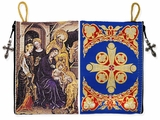 The Nativity of Christ, Rosary / Prayer Rope Tapestry Icon Pouch Case.