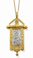 The Virgin of Vladimir, Reversible Pendant (Gonfalon)
