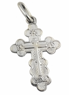 "Three Barred Orthodox Cross ""NIKA"", Sterling Silver, Small"