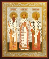 Three Holy Hierarchs, Orthodox Christian Mini Icon