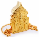 Travel Tabernacle, Gold Plated With Chain