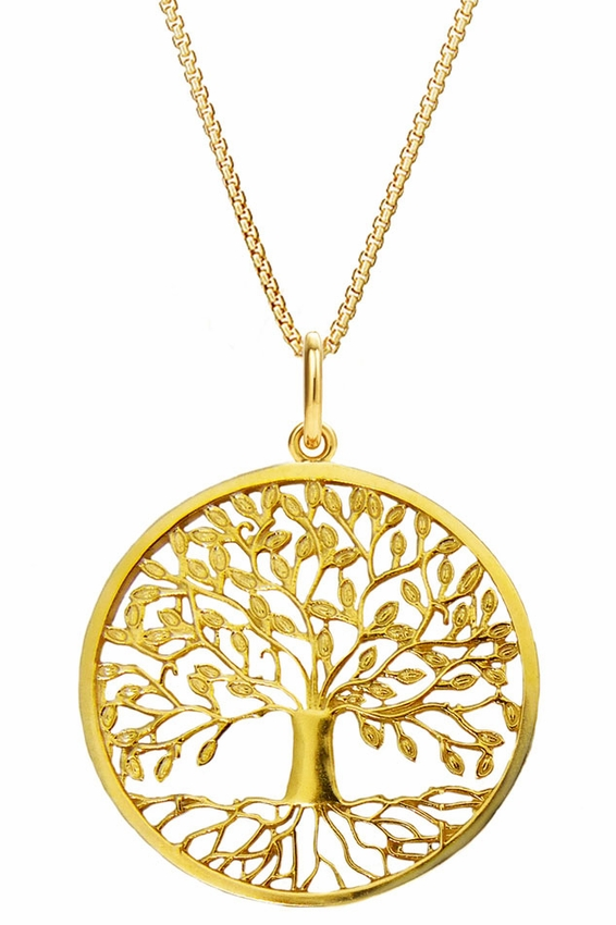 Tree of life pendant silver 925 gold plated at holy trinity store tree of life pendant silver 925 gold plated loading zoom aloadofball Choice Image