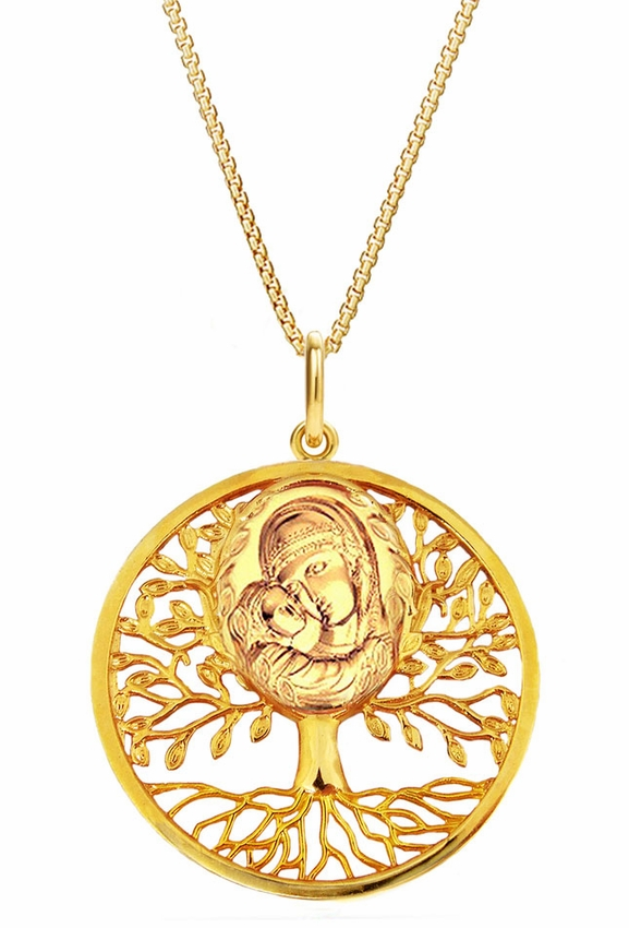 Quot Tree Of Life Quot Pendant With Theotokos And Child Icon