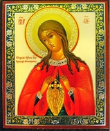 Virgin Mary Helper in Birth, Orthodox Mini Icon