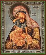 "Virgin Mary ""Leaping with Joy"", Orthodox Christian Icon"