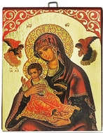 Virgin Mary and Child, Greek Orthodox Byzantine Mini Icon