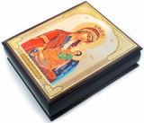 "Virgin Mary  ""Assuage My Sorrows"", Decoupage Icon Box"