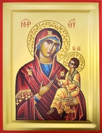 Virgin Mary & Child, Serigraph Orthodox Icon with Stand