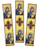 Virgin Mary Eternal Bloom, Set of 3 Tapestry  Icon  Book Markers
