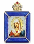Virgin Mary Extreme Humility Icon in Square Style Frame with Stand