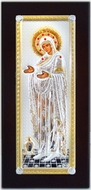 "Virgin Mary ""Gerontissa"", Silver / Gold Plated Orthodox Icon"