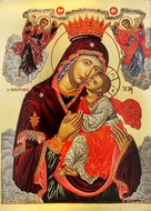 Virgin Mary Glykophilousa (Sweet Kissing), Byzantine Greek Orthodox Icon