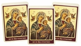 "Virgin Mary of Passion ""Perpetual Help"", Set of 3 Laminated Icon Cards"
