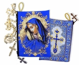 Virgin Mary of Sorrows Rosary Icon Pouch Case