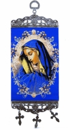 "Virgin Mary of Sorrows, Tapestry Icon Banner, `10"" H"