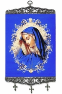 Virgin Mary of Sorrows, Tapestry Icon Banner, Large
