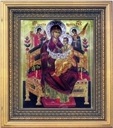 Virgin Mary - Queen Of All (Vsetsaritsa), Hand Painted Orthodox Icon