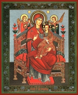 "Virgin Mary Queen of All ""Vsetsaritsa"" (Pantanassa), Orthodox Icon"