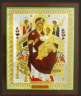 "Virgin Mary Queen of All ""Vsetsaritsa"" (Pantanassa), Orthodox Mini Icon"