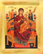 Virgin Mary Queen of All  (Vsetsaritsa), Serigraph Orthodox Icon