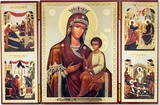 "Virgin Mary ""Quick to Hearken"" (Skoroposlushnitsa), Triptych"
