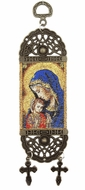 """Virgin Mary, Tapestry Icon Banner, 7"""" H"""