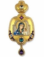 Virgin Mary the Eternal Bloom, Enameled Framed Icon Ornament