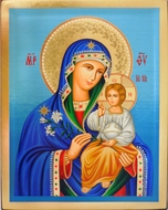 Virgin Mary the Eternal Bloom, Serigraph Greek Orthodox Icon