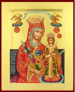Virgin Mary the Unfading Blossom (The Fragrant Flower), Greek Serigraph Icon
