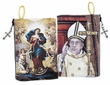 Virgin Mary Undoer of Knots and Pope Francis, Rosary Icon Pouch Case