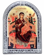 "Virgin Mary ""Vsetsaritsa"" (Pantanassa), Orthodox Serigraph Framed Icon"
