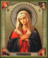 "Virgin Mary ""Extreme Humility"",  Orthodox Christian Icon"