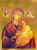 Virgin of Passion - Lady of Perpetual Help, Greek Orthodox Byzantine  Icon