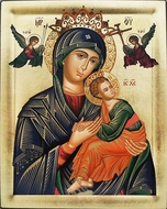 Virgin of Passion - Lady of Perpetual Help, Greek Serigraph Icon