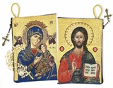 Virgin of Perpetual Help & Christ The Teacher Rosary Icon Pouch