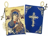 Virgin of Perpetual Help & Cross,  Rosary Icon Pouch