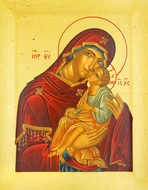 Virgin of Tenderness (Glykophilousa), Serigraph Orthodox Icon