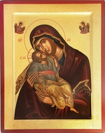 Virgin Mary Glykophilousa (Sweet Kiss), Orthodox Serigraph Icon