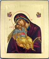 "Virgin Mary ""Sweet Kiss"", Serigraph Orthodox Icon"
