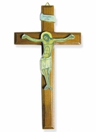 Wall Decoupage Cross with Corpus Crucifix from Greece